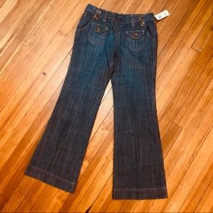 NWT INC Int'l Concepts retro navy style jeans 6